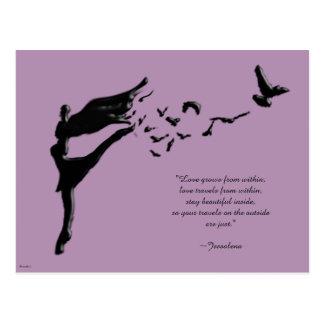Cartão Postal Dança do vôo