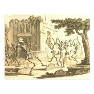 Cartão Postal Dança Momento macabramente Mori