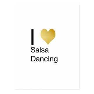 Cartão Postal Dança Playfully elegante da salsa do coração de I