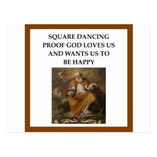 Cartão Postal dança quadrada