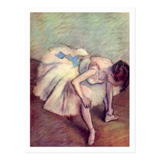 Cartão Postal Dançarino assentado por Edgar Degas
