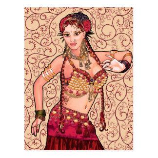 Cartão Postal Dançarino de barriga tribal de Salesk