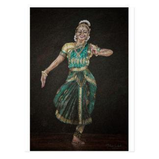 Cartão Postal Dançarino de Bharatanatyam