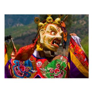 Cartão Postal Dançarino do festival de Aisan