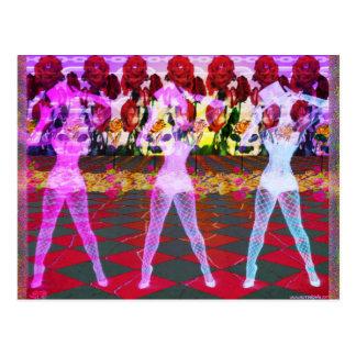 Cartão Postal Dançarinos cor-de-rosa do assoalho