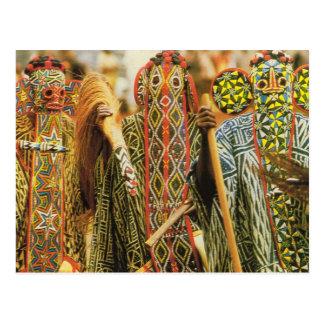 Cartão Postal Dançarinos de Banjouge, República dos Camarões