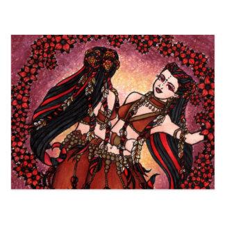 Cartão Postal Dançarinos de barriga tribais dos Gêmeos