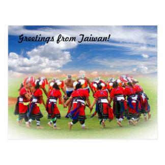 Cartão Postal Dançarinos nativos tribais de Formosa!