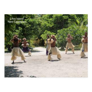 Cartão Postal Dançarinos tradicionais, ilha de Lifou, Nova