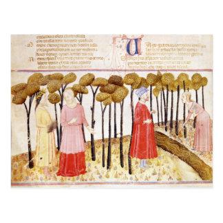 Cartão Postal Dante e Virgil na cimeira do purgatório