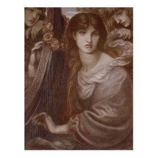 Cartão Postal Dante Gabriel Rossetti: A festão
