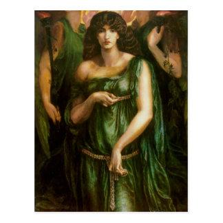 Cartão Postal Dante Gabriel Rossetti- Astarte Syriaca