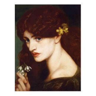 Cartão Postal Dante Gabriel Rossetti- Blanzifiore (Snowdrops)