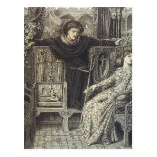 Cartão Postal Dante Gabriel Rossetti: Hamlet e Ophelia