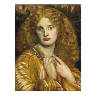 Cartão Postal Dante Gabriel Rossetti: Helen de Troy