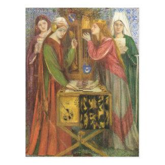Cartão Postal Dante Gabriel Rossetti- o armário azul