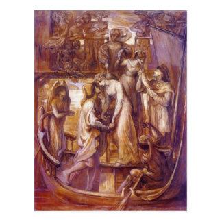 Cartão Postal Dante Gabriel Rossetti- o barco do amor