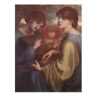 Cartão Postal Dante Gabriel Rossetti: O prado do Bower