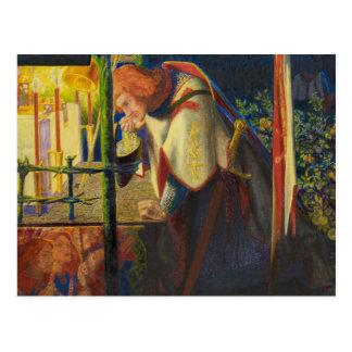 Cartão Postal Dante Gabriel Rossetti - senhor Galahad no