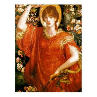 Cartão Postal Dante sumário Gabriel Rossetti uma visão de