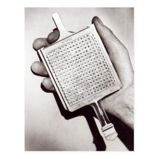 Cartão Postal Datilografe blocos
