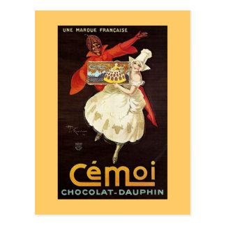 Cartão Postal Dauphin Girls1924 francês de Chocolat