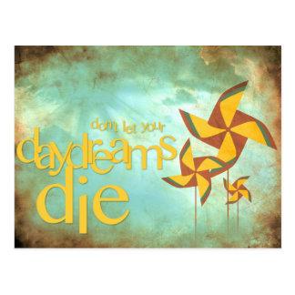 Cartão Postal daydreams do pinwheel