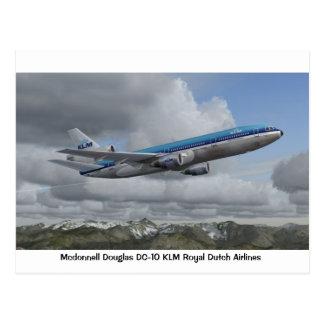 Cartão Postal DC-10 de McDonnell Douglas da linha aérea
