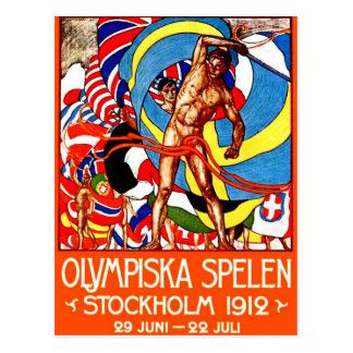 Cartão Postal ~ de 1912 Jogos Olímpicos de Verão (o vintage