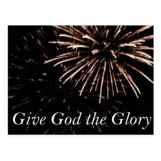 Cartão Postal dê a deus a glória