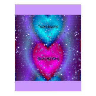 """Cartão Postal De """"batida dois corações como uma """" *"""