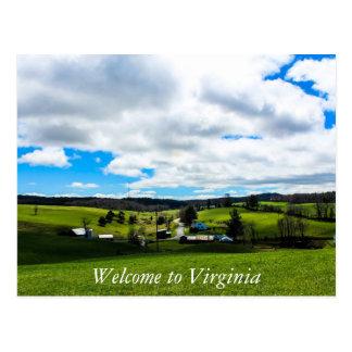 Cartão Postal Dê boas-vindas a Virgínia 2