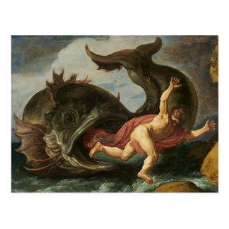 """Cartão Postal De """"cartão da arte Jonah e da baleia"""""""