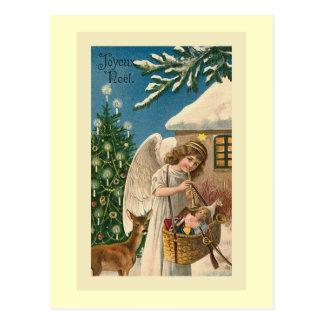 """Cartão Postal De """"cartão do natal vintage Joyeux Noel """""""
