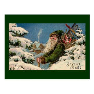 """Cartão Postal De """"cartão do vintage Joyeux Noel"""""""