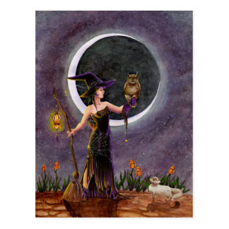 """Cartão Postal De """"cartão Hester e da coruja"""""""