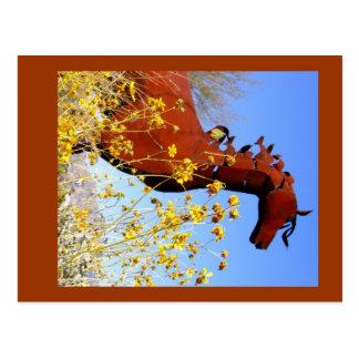 """Cartão Postal De """"cavalo ferro """""""