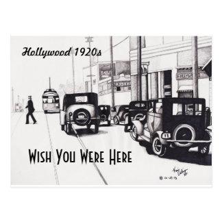 """Cartão Postal De """"desejo do 1920 Hollywood"""" você estava aqui"""