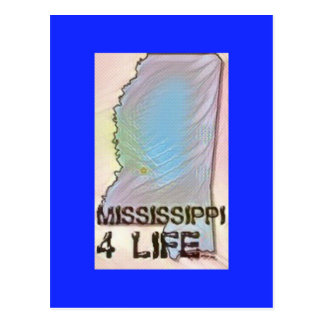"""Cartão Postal De """"design do orgulho do mapa do estado da vida"""