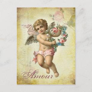 Cartão Postal De Festividades Querubim dos namorados - caso amoroso