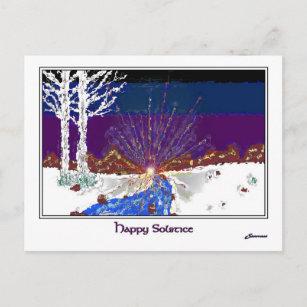 Cartão Postal De Festividades Solstício de inverno