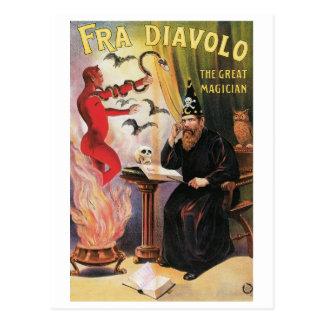 Cartão Postal ~ de Fra Diavolo o ato mágico do grande vintage do
