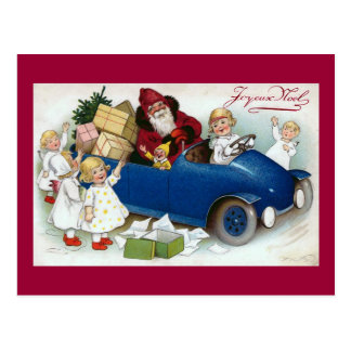 "Cartão Postal De ""francês do vintage Joyeux Noel"""