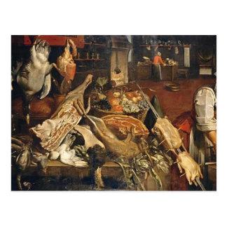 Cartão Postal De Frans Snyders- da cozinha vida ainda