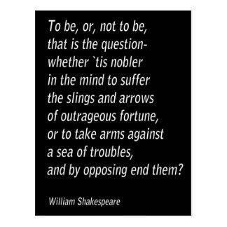 Cartão Postal ` De Hamlet do ` do ` s de William Shakespeare