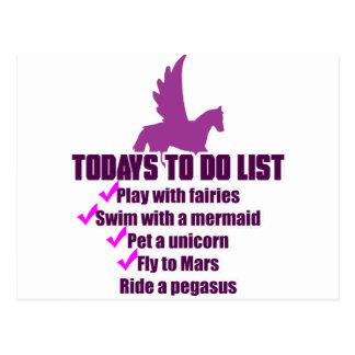 Cartão Postal De hoje para fazer a lista