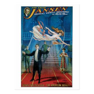 Cartão Postal ~ de Jansen o ato mágico do grande vintage