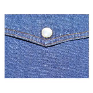 cartão postal de jeans