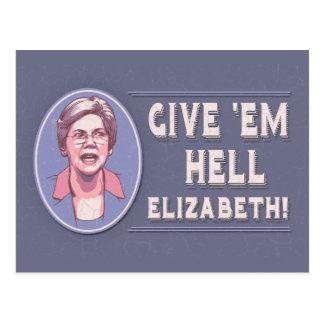 Cartão Postal Dê-lhes o inferno, Elizabeth