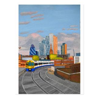 Cartão Postal De Londres estação de Hoxton do trem por terra
